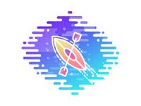 Boat water vector ship sea abstract nature boat logo illustration icon graphics design