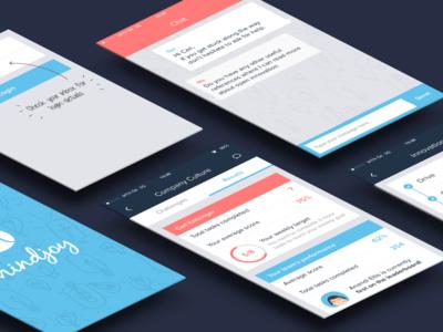 Mobile App Screens