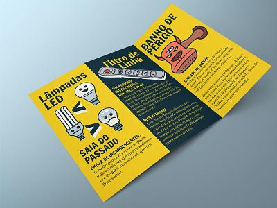 Electricity Awareness informative graphic  design illustration folder print flyer