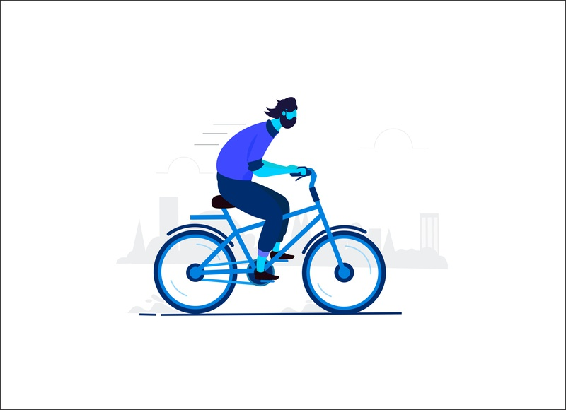 Cycling sketching designing target graphic deisgn illustration town character man cycling