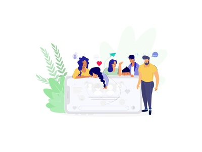 Group conversation target designing dribbble graphic deisgn illustration mobie charachters group chat