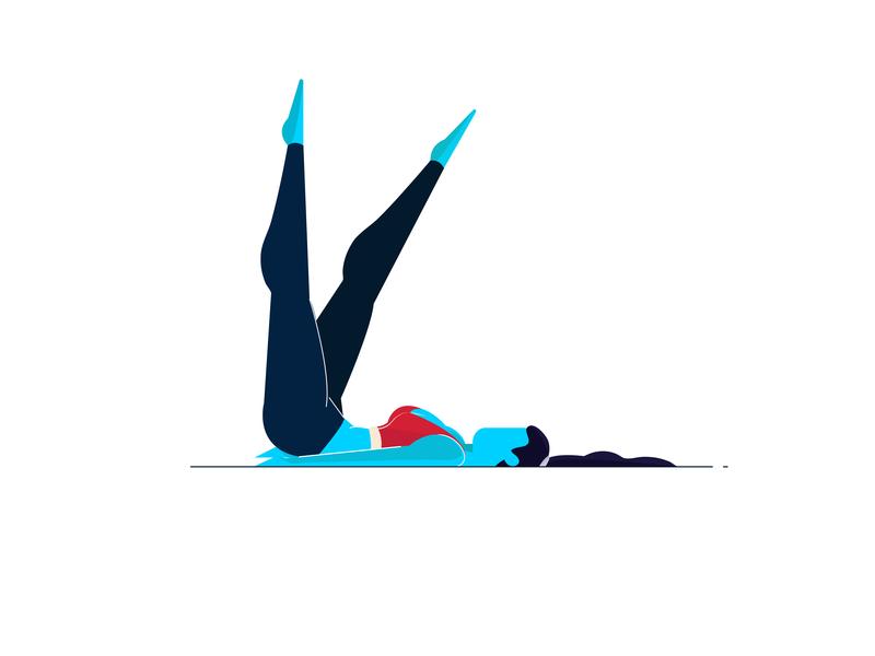 yoga graphic deisgn girl illustration sketching dribbble character illustration fitnes girl character yoga