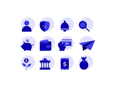 Bank icons blue icons dribbble target vector designing graphic deisgn bank icon illustration