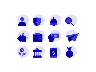 Bank icons