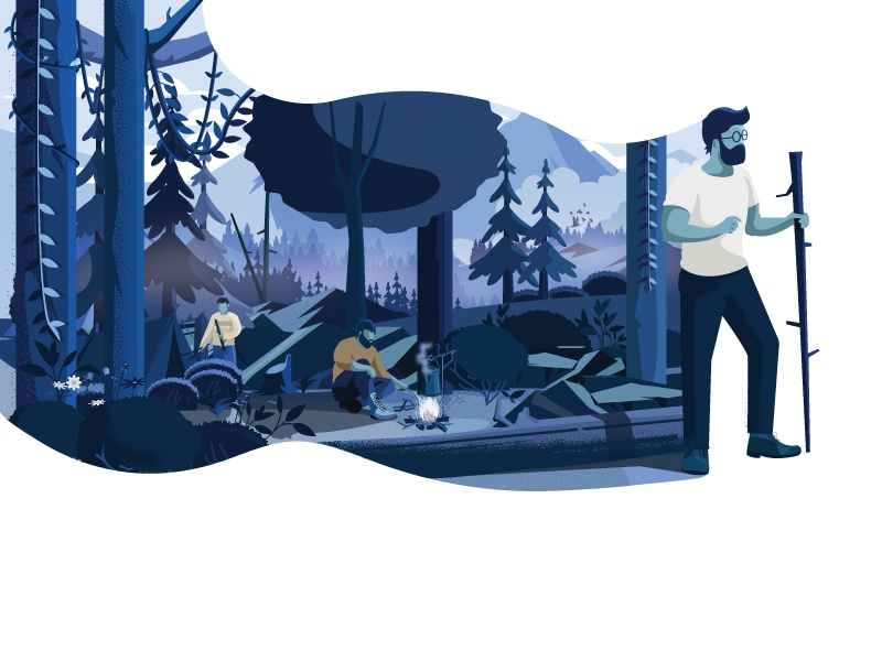 Collect moments with Nature not things tree campaign nature illustration nature landscape designing dribbble character graphic deisgn illustration