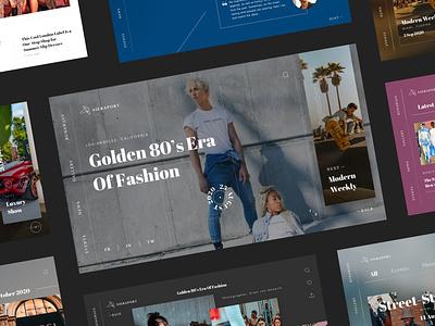 Sieraport Events UI Kit news web design ux ui ui kit modern minimal interface luxury blog fashion events