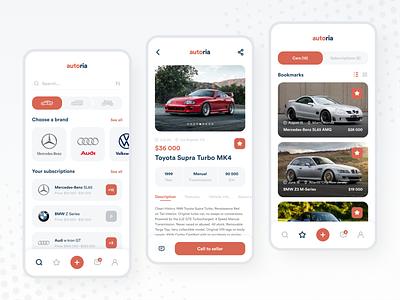 AUTO.RIA – Car Marketplace App Redesign design minimal photo ux ui navigation mobile interface ecommerce store shop marketplace car auto app