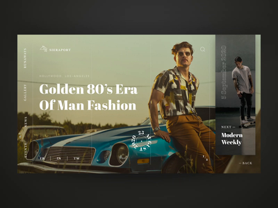 Sieraport Featured Events Homepage Animation typography events fashion webdesign modern transitions minimal clean luxury interface web ui design animation