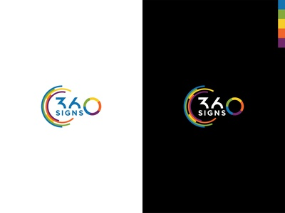 Conceptual 360signs logo colorful brand identity branding modern logo 360 logo 360signs conceptual logo
