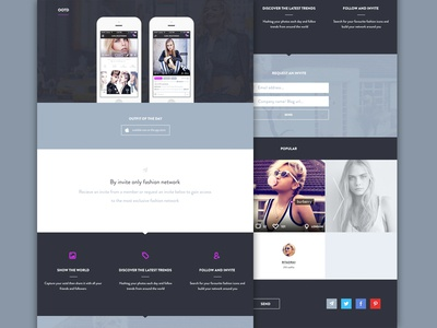 Ootd web design concept