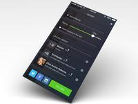 Upload screen for menu app