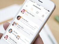 Conversations screen - fashion platform