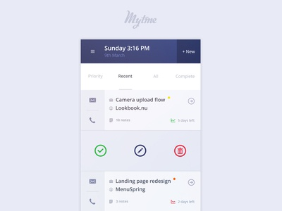 MyTime - Client Manager facelift