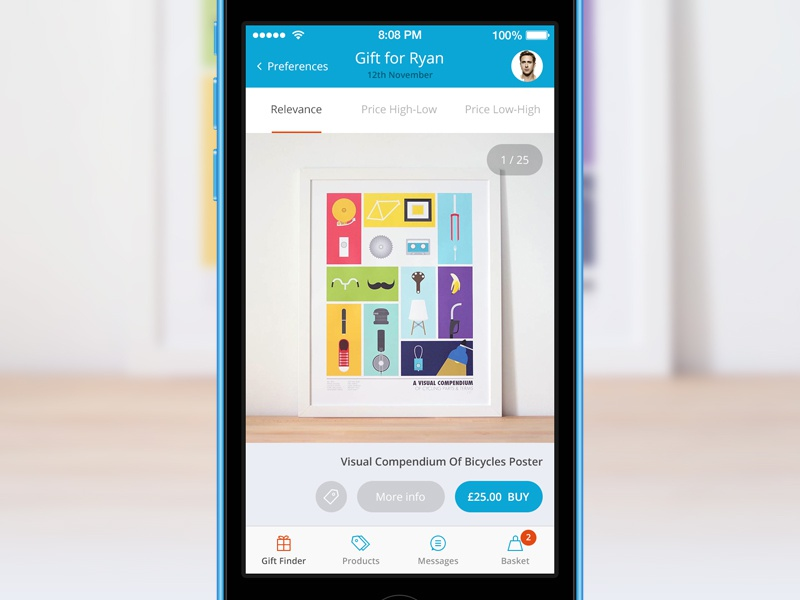 Not on the High Street iOS ui ux iphone redesign ios7 interface ecommerce shop gift