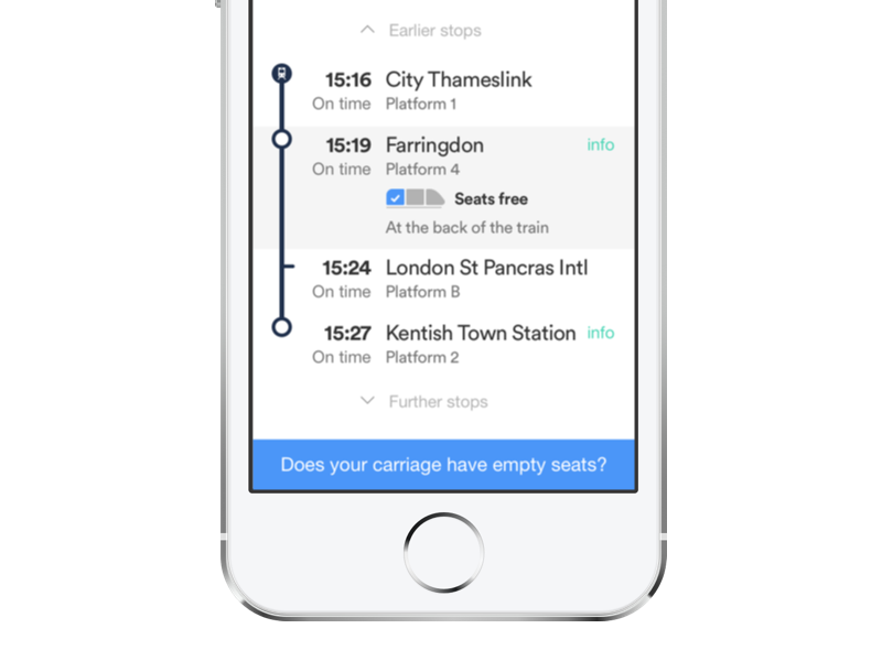 Busybot - find empty seats when you need them train pixate ios10 app prediction live sears livetracker busybot busy trainline