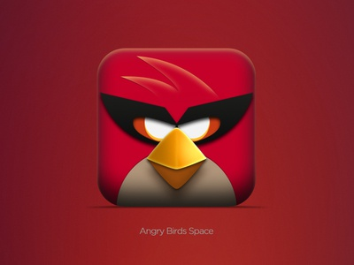 Angry Birds Space By Ben Dunn Dribbble - Famous logos redesigned as angry birds characters