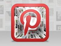 Pinterest iOS icon design