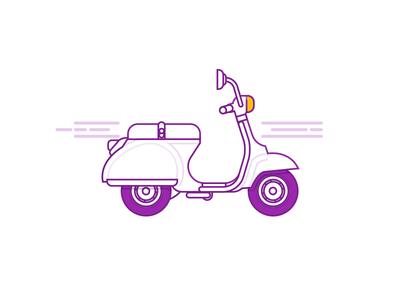 scooter illustration for iRYD
