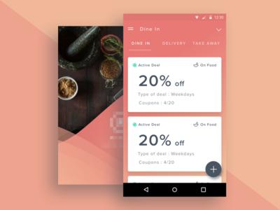 Restaurant Deal Management Android app