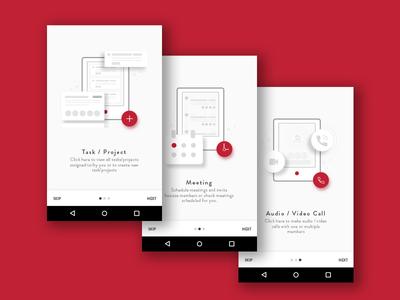 App tour screens design