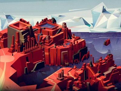 Coast Town at Red Desert
