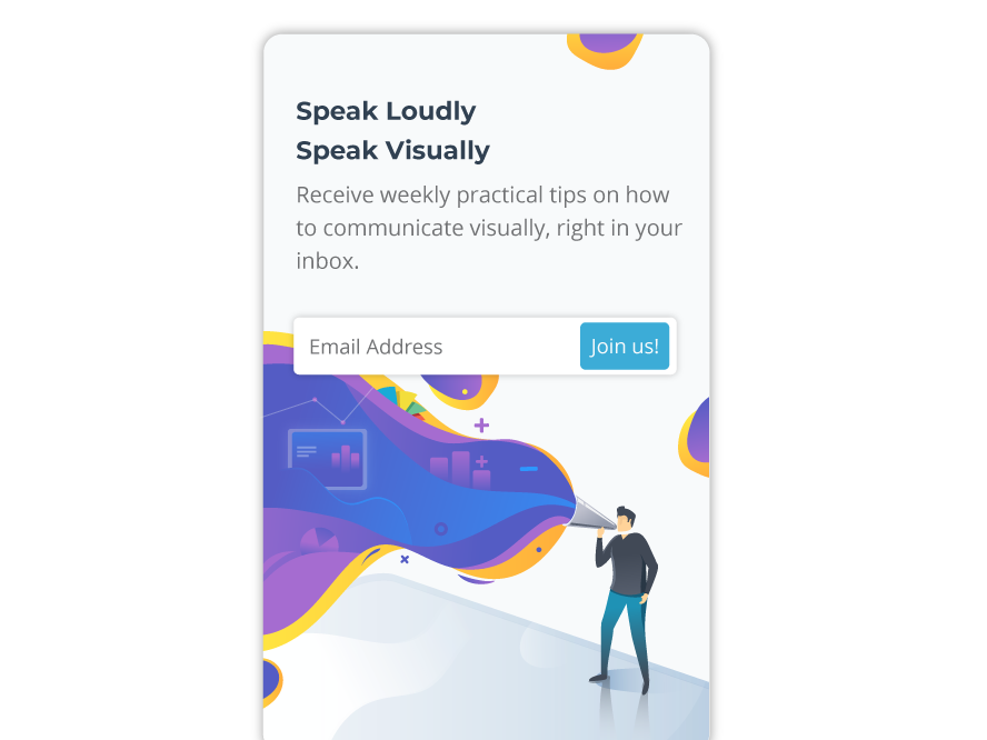 Speak Loudly, speak visually data visualization loud visual colors uidesign branding illustration