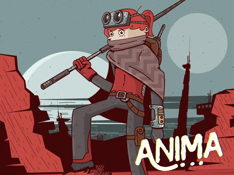 Anima main Character girl cartoon illustration woman red comic character