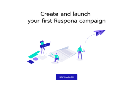 Respona in app Illustrations uidesign website launch characters flat illustrations inbound marketing email mailing respona campaign