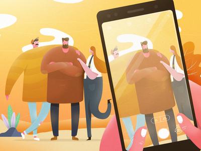 Zenfone Friends trends character design trendy characters asus cellphone illustrator vector photoshop illustration