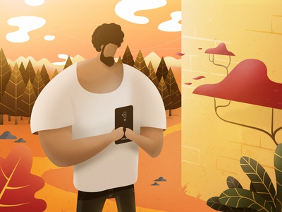 Chatting Around trendy design trendy trend trendy characters illustration photoshop illustrator flat character design cellphone asus vector vintage