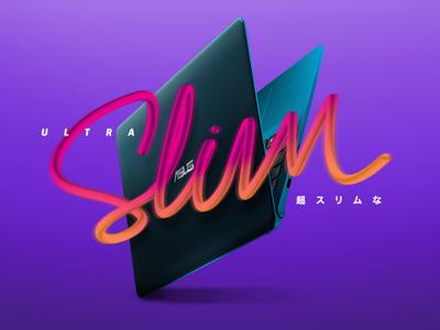 Ultra Slim ultra slim lettering art lettering typography digital art digital design art vector trendy trend illustration
