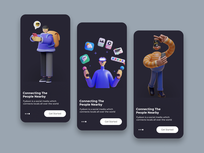 onboarding screen for messaging App ui design onboarding screens onboarding onboarding ui uiux shot gif ui