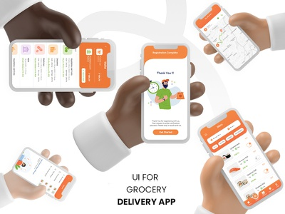 UI GROCERY DELIVERY APP- FULL PROJECT design inspiration uidesign app design medicine grocery swiggy food app delivery food uiux ui