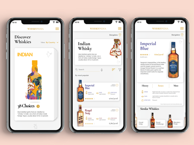 Whiskeypedia App redesign