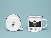 Belgrade Illustration Set - Souvenir Cup