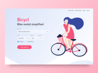 Bicycl Bike Rental Website Concept