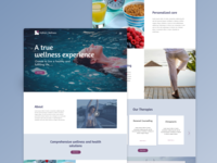 Wellness Center Website Concept