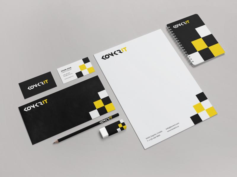 Konkrit Branding Stationery stationary design design web agency branding and identity stationery branding