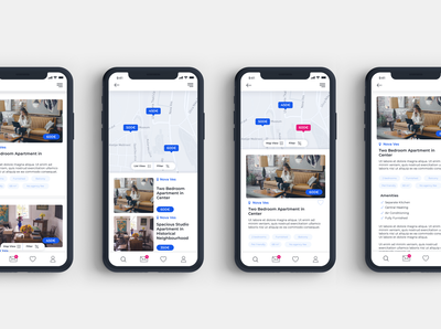 Zagreb Apartment Rental App UX/UI Design - Work in Progress