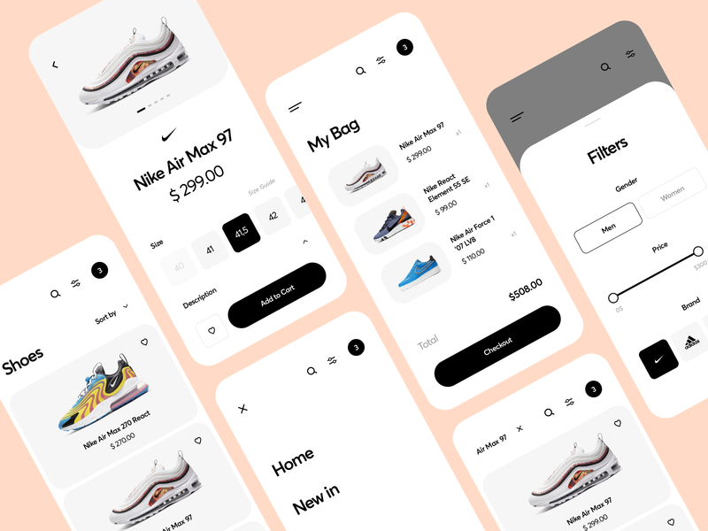 Shoes App Design