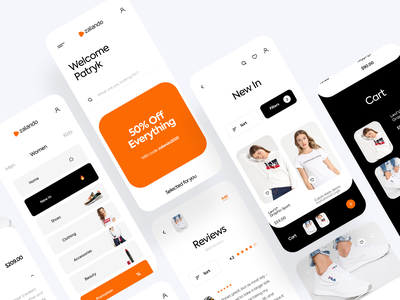 Zalando Redesign App Ecommerce payments shoes clothing zalando reviews cart interface mobile clean design ui ux app