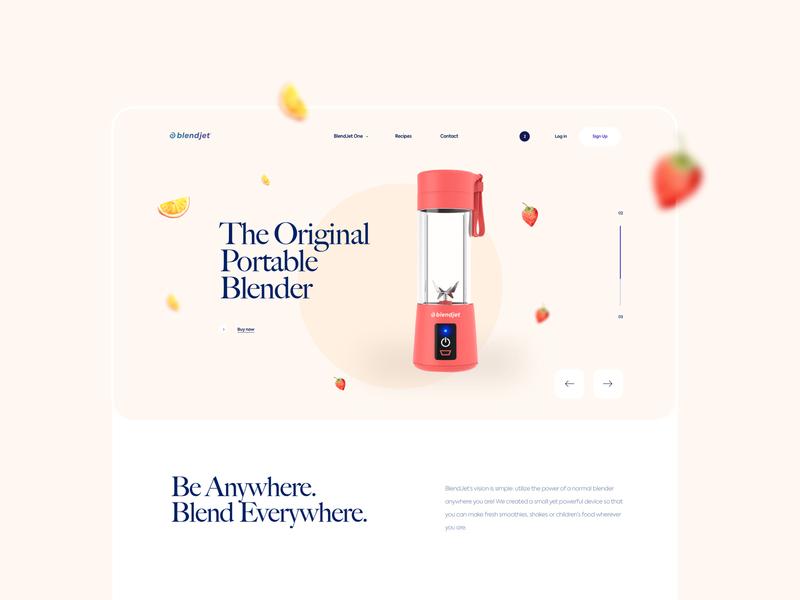 BlendJet - Ecommerce Webdesign graphic design web webpage design website product page webdesign fruit vegetable shop blendjet ecommerce interface mobile clean design app ux ui
