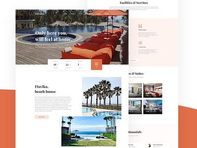 Flavika Hotel - webdesign branding landing page web patryk polak intervi design minimalistic design ux ui hotel website hotel webdesign