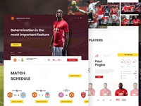Manchester United - webdesign concept