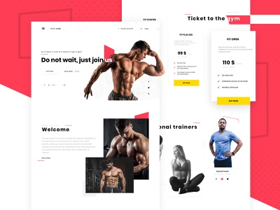 Gym website concept - landing page typography design landing page design gym site gym concept minimalist design ux ui patryk polak intervi landing page gym webdesign