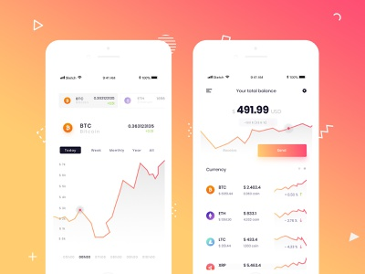 Crypto Wallet - concept app wallet dashboad ico cryptocurrency payment concept app design mobile app crypto wallet ux ui patryk polak intervi