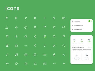 Runnin'City travel icon set component design icon design iconography ui icons icon pack 2020trend icon