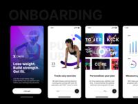 ONYX - Onboarding ux ui branding mobile design onboarding screens fitness app workout fitness onboarding digital design ux ui 2021 ui 2020 producthunt uiux onboarding ui onboarding