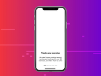 Track and get real time feedback [ONYX] ai workout fitness sports mobile design ux ui digital design ui animated onboarding animation uiux onboarding ui onboarding