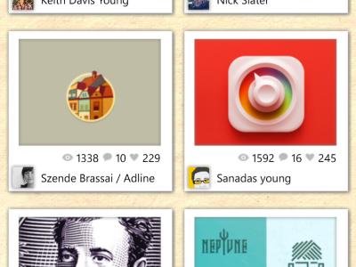 inspiration dribbble windows phone wp8 ui app